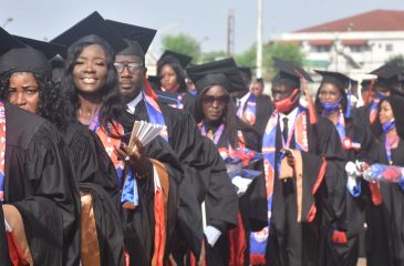 """Some members of the 2020 """"Meni Nina"""" Class during convocation at the SKD Sports Complex"""