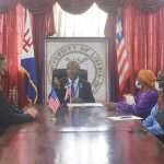 U.S Ambassador Pays Courtesy Visit to UL, Holds Talks with Dr. Nelson